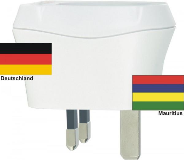 Reiseadapter Mauritius auf Deutschland Skross 1.500230 Reisestecker