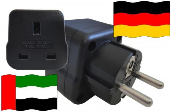 Urlaubsstecker Deutschland für Geräte aus Vereinigte Arabische Emirate