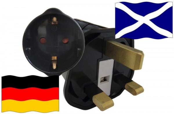Urlaubsstecker Schottland für Geräte aus Deutschland