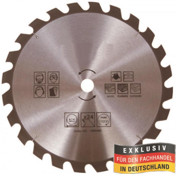 Kreissägeblatt 100mm, 24 Zähne, für Holzarbeiten