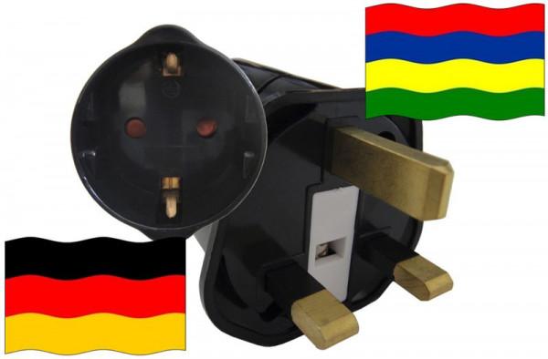 Urlaubsstecker Mauritius für Geräte aus Deutschland