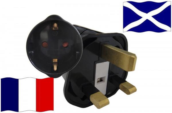 Urlaubsstecker Schottland für Geräte aus Frankreich