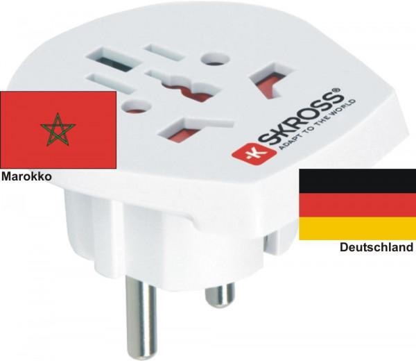 Reiseadapter Deutschland auf Marokko - Skross 1.500211 Reisestecker