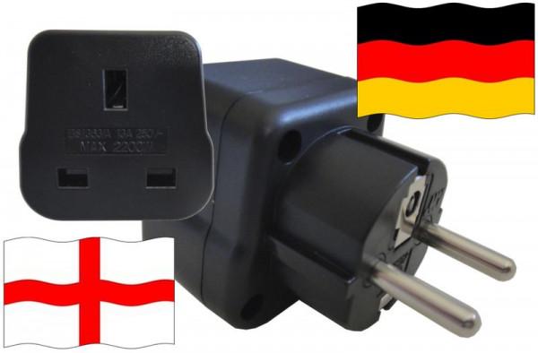 Urlaubsstecker Deutschland für Geräte aus England