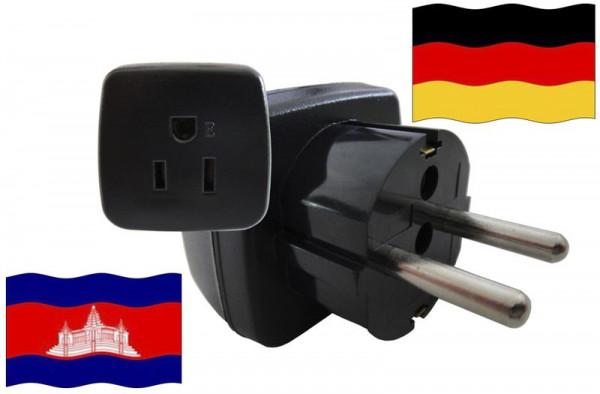 Urlaubsstecker Deutschland für Geräte aus Kambodscha