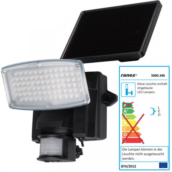 LED Fluter mit Bewegungsmelder Ranex 5000.346 schwarz