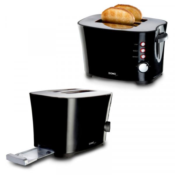 2 Scheiben Toaster DOMO DO941T Brotröster mit 7 Bräunungsstufen