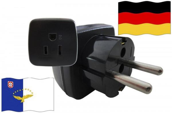 Urlaubsstecker Deutschland für Geräte aus Azoren