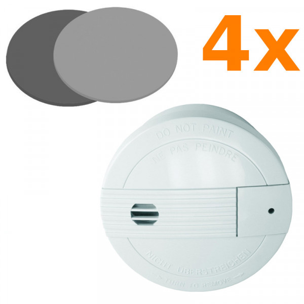 4 Rauchmelder Smartwares SA68B + 4 Magnethalter Elro RMAG 4