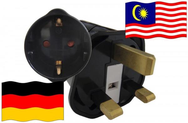 Urlaubsstecker Malaysia für Geräte aus Deutschland