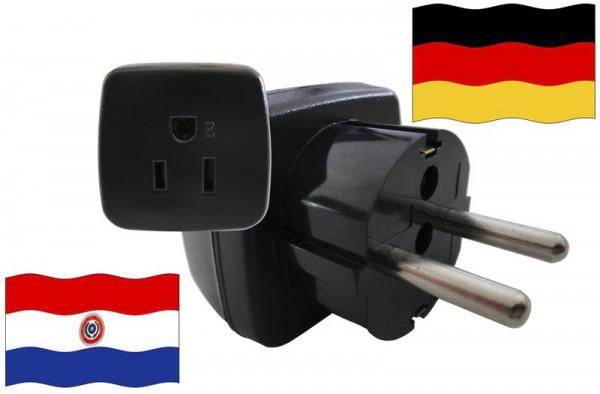 Urlaubsstecker Deutschland für Geräte aus Paraguay