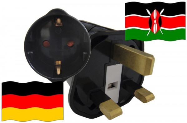 Urlaubsstecker Kenia für Geräte aus Deutschland