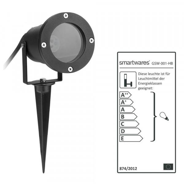 Garten Spot schwarz GSW-001-HB Smartwares 10.048.27