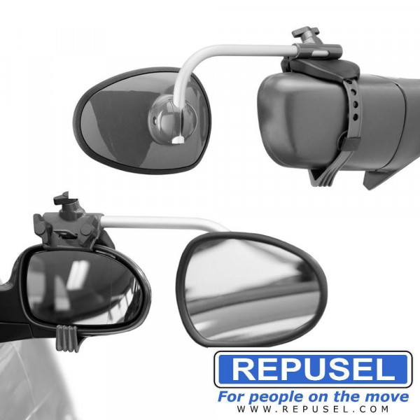 Caravanspiegel Alufor, Arm kurz, zusätzlicher Autospiegel Repusel 3001