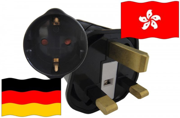 Urlaubsstecker Hong Kong für Geräte aus Deutschland