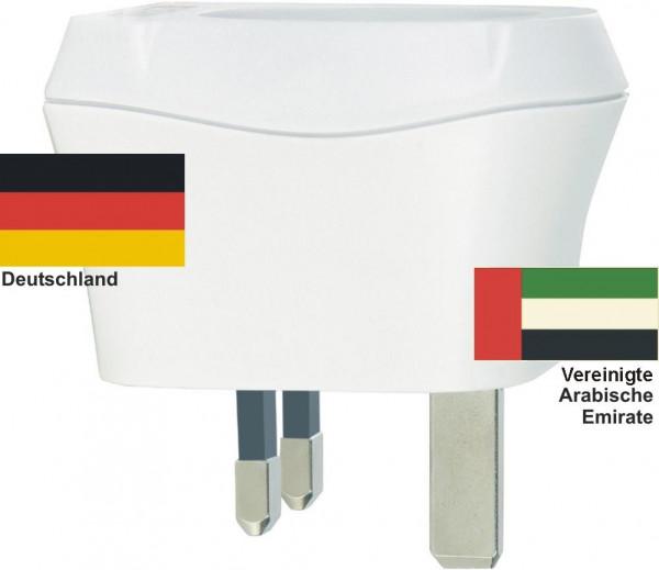 Reiseadapter Vereinigte Arabische Emirate Deutschland Skross 1.500230