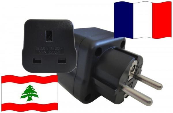 Urlaubsstecker Frankreich für Geräte aus Libanon