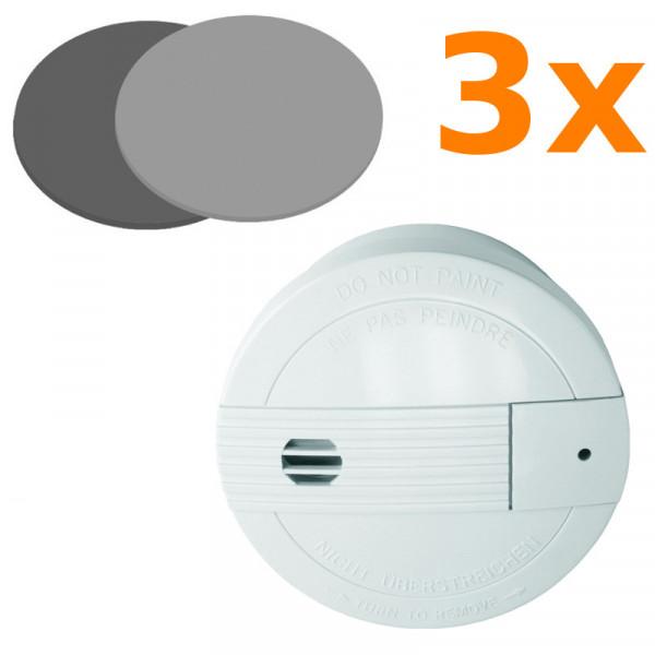3 Rauchmelder Smartwares SA68B + 3 Magnethalter Elro RMAG 4