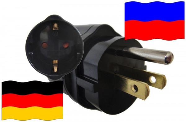 Urlaubsadapter Haiti für Geräte aus Deutschland