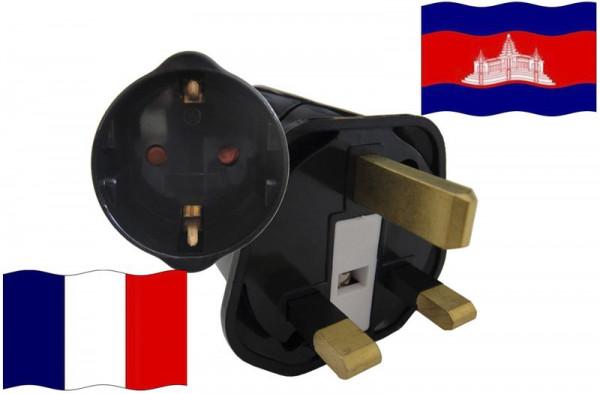 Urlaubsstecker Kambodscha für Geräte aus Frankreich