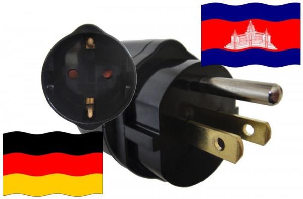 Urlaubsadapter Kambodscha für Geräte aus Deutschland