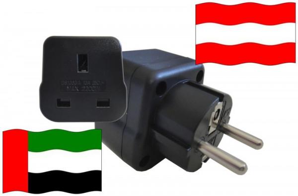 Urlaubsstecker Österreich für Geräte aus Vereinigte Arabische Emirate
