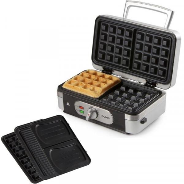 Profi 3in1 Waffeleisen + Sandwichmaker + Kontaktgrill DOMO DO9136C