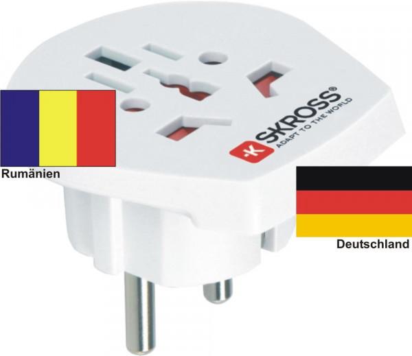 Reiseadapter Deutschland auf Rumänien - Skross 1.500211 Reisestecker
