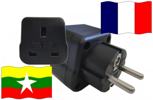 Urlaubsstecker Frankreich für Geräte aus Burma