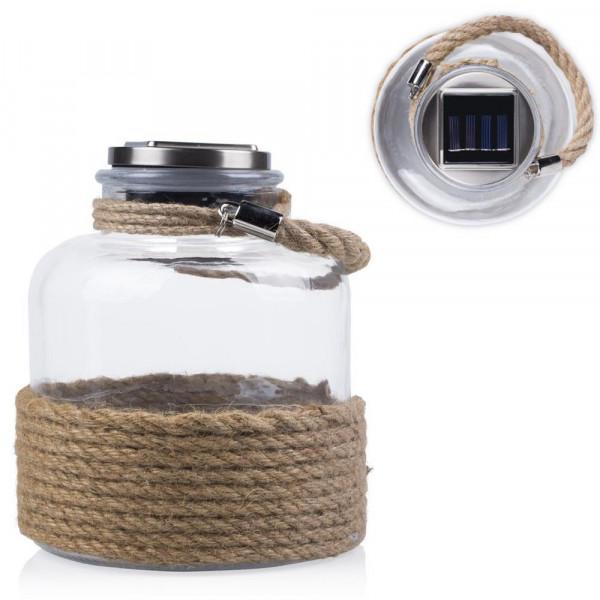 Laterne für den Außenbereich aus Glas mit Solarpanele Fiji Ranex 10.032.51