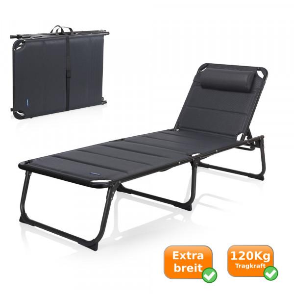 Komfort Campingliege 5-Positionen 120 KG Tragkraft campart travel BE-0665 (S)