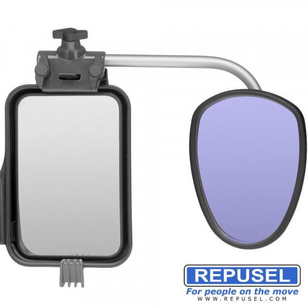 Caravanspiegel Luxmax, Arm kurz, zusätzlicher Autospiegel Repusel 3004