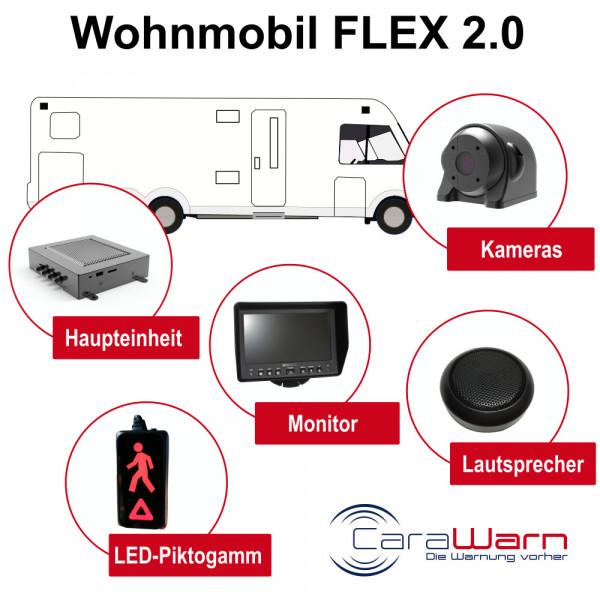 CaraWarn Wohnmobil Abbiegeassistent FLEX 2.0 mit Monitor
