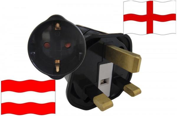 Urlaubsstecker England für Geräte aus Österreich