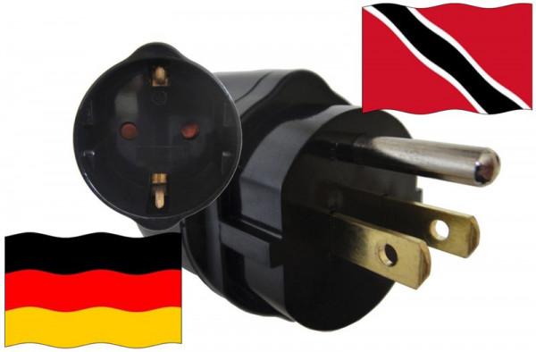 Urlaubsadapter Trinidad-Tobago für Geräte aus Deutschland