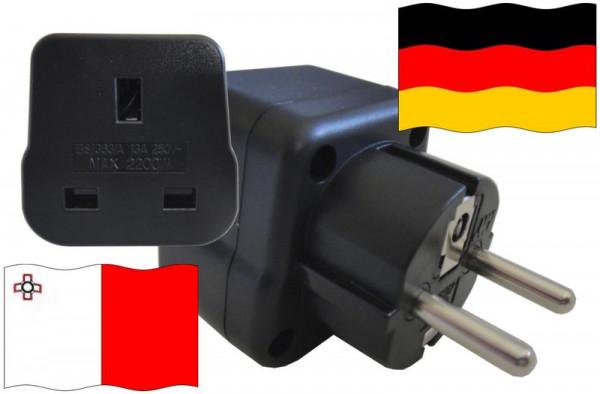 Urlaubsstecker Deutschland für Geräte aus Malta