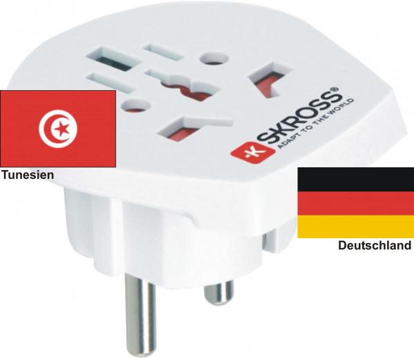 Reiseadapter Deutschland auf Tunesien - Skross 1.500211 Reisestecker