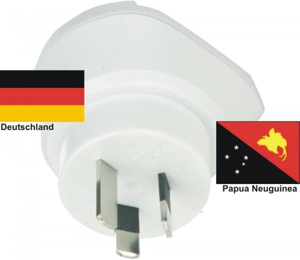 Reiseadapter Papua Neuguinea - Deutschland - Skross 1.500209 Reisestecker