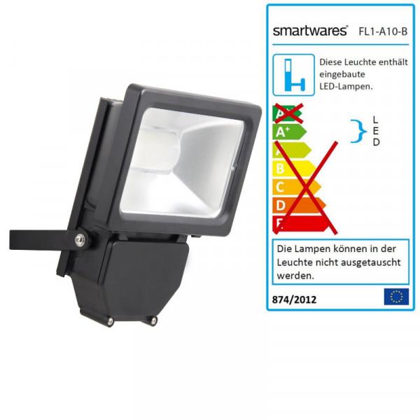 LED Scheinwerfer 10 Watt Smartwares FL1-A10-B 10.008.95