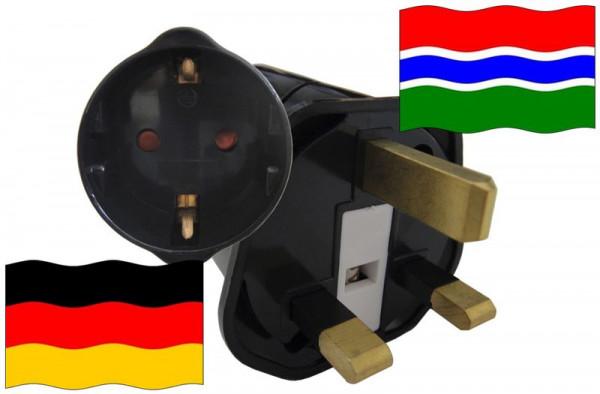 Urlaubsstecker Gambia für Geräte aus Deutschland