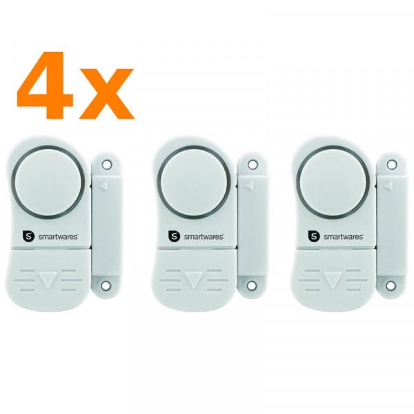 12 Stück Mini Alarmanlagen zur Absicherung Smartwares SC07/3 10.017.13 sichert Fenster und Türen