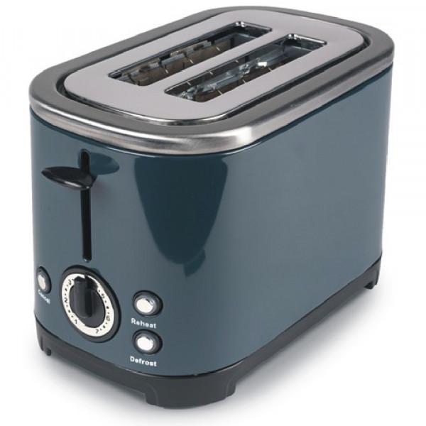 Stilvoller 2 Schlitz Edelstahl Toaster Kampa Deco ME0583E dunkelgrau