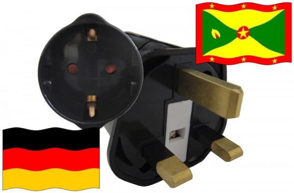 Urlaubsstecker Grenada für Geräte aus Deutschland