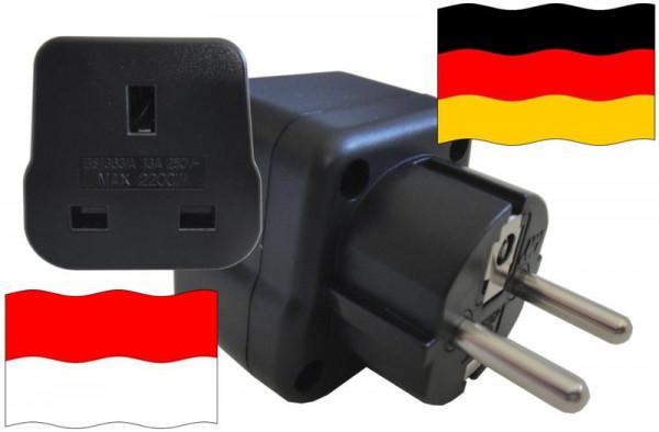 Urlaubsstecker Deutschland für Geräte aus Indonesien
