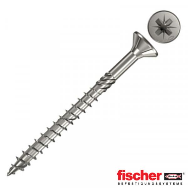 Fischer FPF-SZ 4,0 x 60 A2P 100 Spanplattenschraube 657181 100Stk.