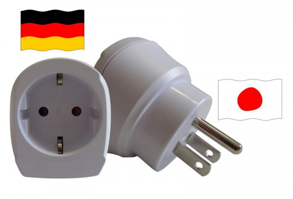 Reiseadapter für Japan. Steckeradapter für Geräte aus Deutschland