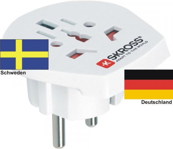 Reiseadapter Deutschland auf Schweden - Skross 1.500211 Reisestecker