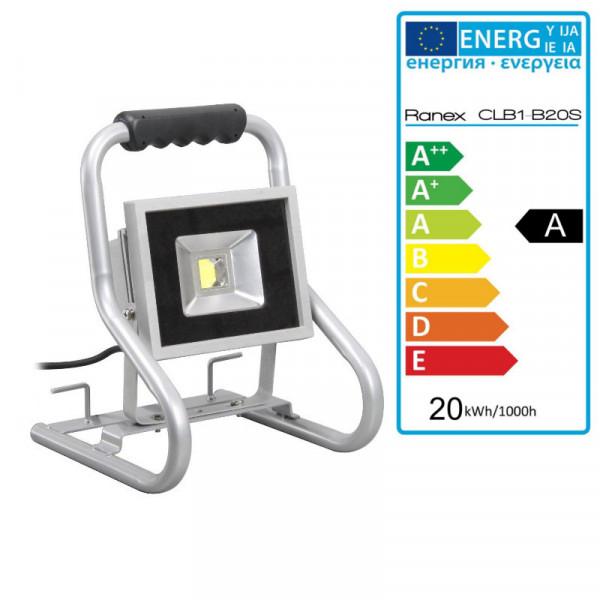 Tragbarer Scheinwerfer, Fluter 20 Watt Leistung Smartwares CLB1-B20S