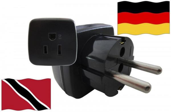 Urlaubsstecker Deutschland für Geräte aus Trinidad-Tobago