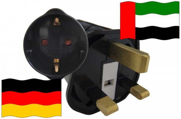 Urlaubsstecker Vereinigte Arabische Emirate für Geräte aus Deutschland
